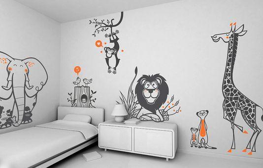 Stickers o pegatinas infantiles E-glue. Fantasía y arte para decorar tus paredes.