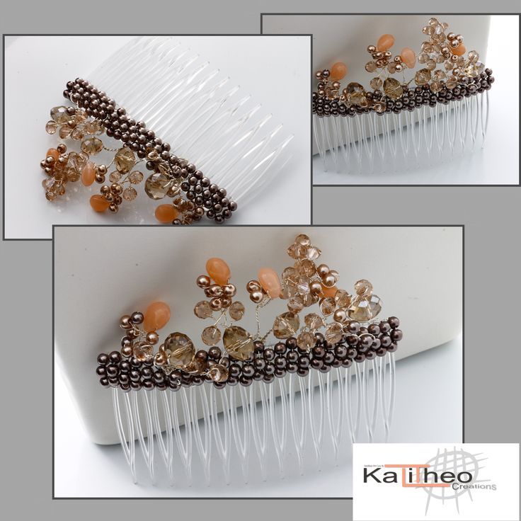 Wedding Hair Comb / Bridal Hair-comb / Brides Maids Accessories by   https://www.facebook.com/KalitheoCreations #wedding #bridal #HairComb #BridalTrends