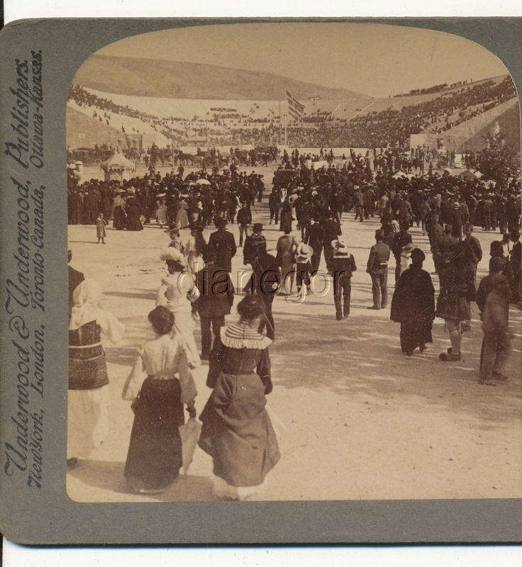 Olympic Games Athens Greece Underwood Stereoview 1906 | eBay; From Greece through the Stereoscope by Rufus R. Richardson PH.D.