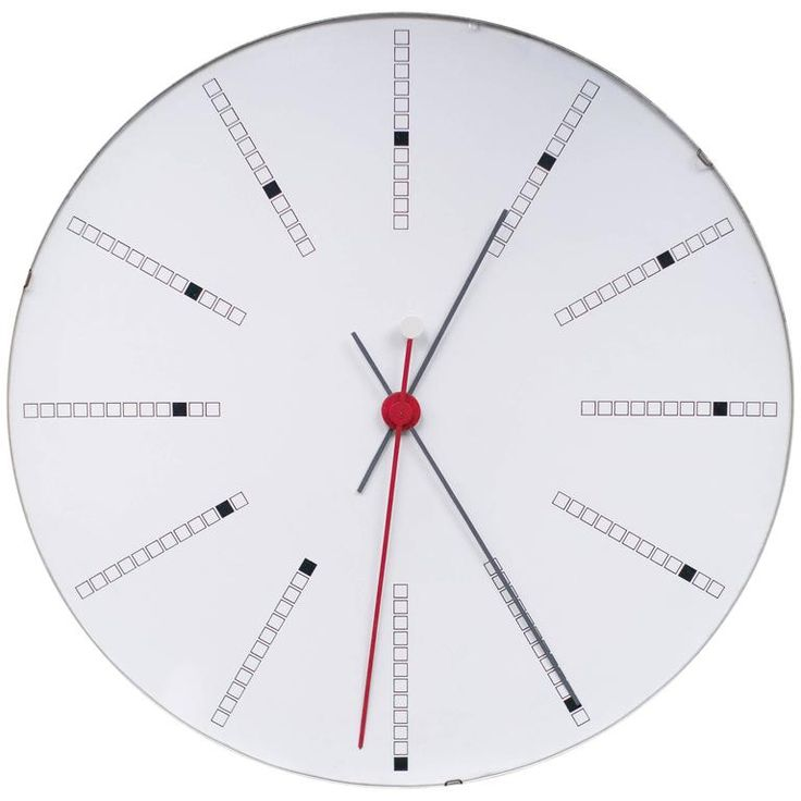 Extra Large Bankers Wall Clock by Arne Jacobsen for Gefa, 1971 | From a unique collection of antique and modern clocks at https://www.1stdibs.com/furniture/decorative-objects/clocks/