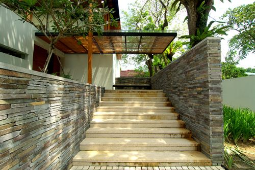 Tropical House Entrance Porch