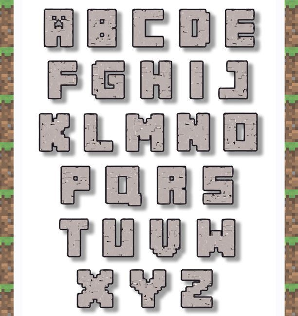 Free printable minecraft letters - Google Search