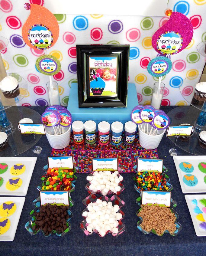 Cupcake Decorating Station Ideas : DIY Cupcake Bar featuring ?Sprinkles!?? Printables DIY ...