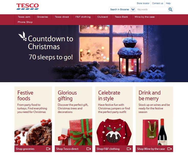 Big brand landing page designs for Christmas #marketing #winter #design #web #ecommerce #retail #Christmas