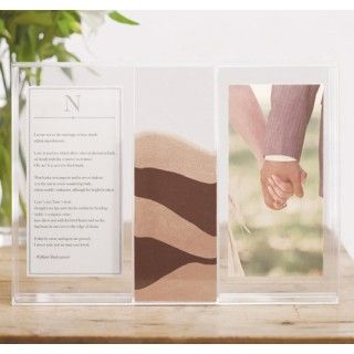 Clearly Love Unity Sand Ceremony Frame With LID Acrylic Shadow Box