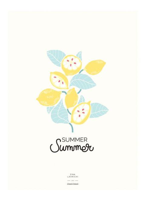 L'affiche Citrons Summer Summer - Zina Lahrichi x émoi émoi EMOI EMOI - Photo