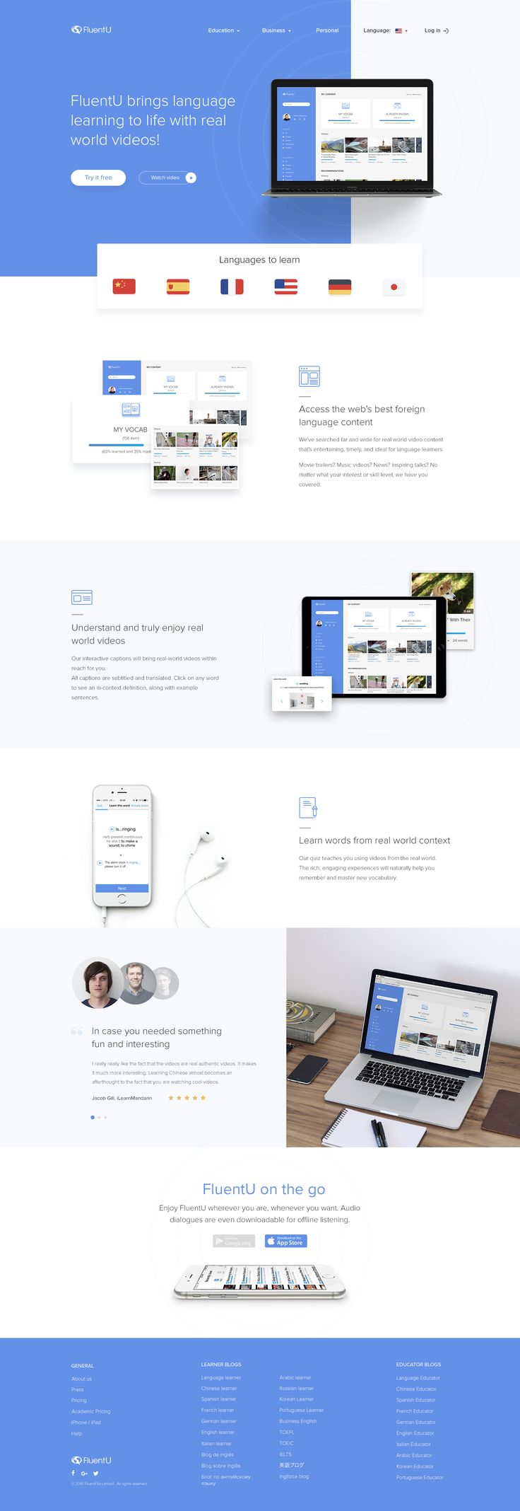 Dribbble - fluent_homepage.png by Valeria Rimkevich