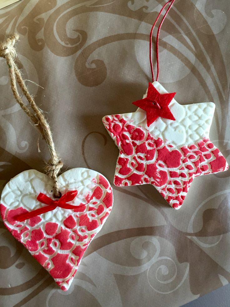 Decorazioni di Natale in pasta di bicarbonato
