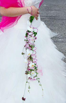 Creative orchid bridal bouquet