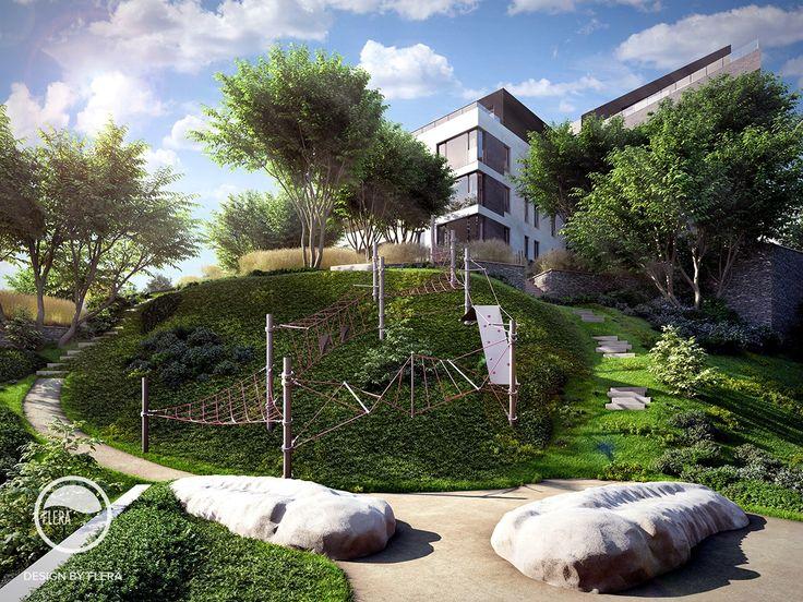 #landscape #architecture #garden #public #space #playground #path