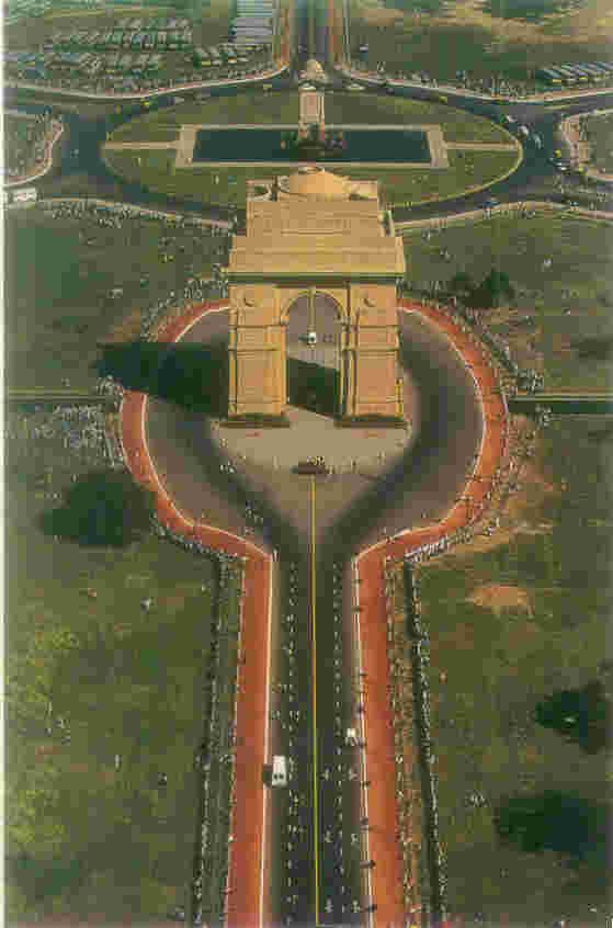 India Gate, New Delhi, India.
