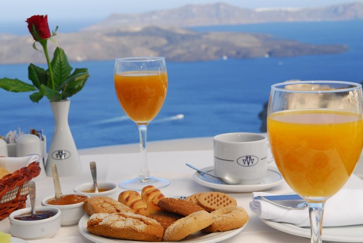 Start your day with a morning delicious!     http://www.volcano-view.com/santorini-caldera-restaurant.php