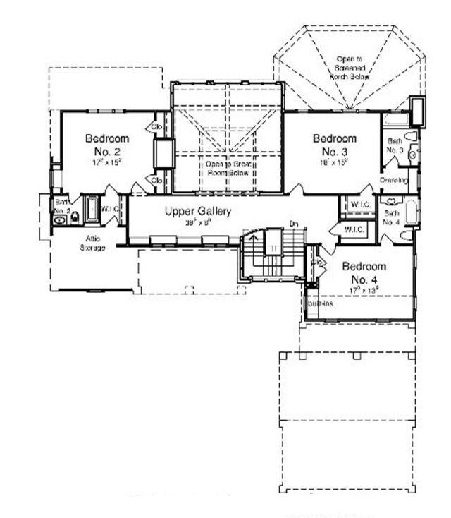 Upper Level Floor Plan Lake House Plans Southern Living House Plans House Plans