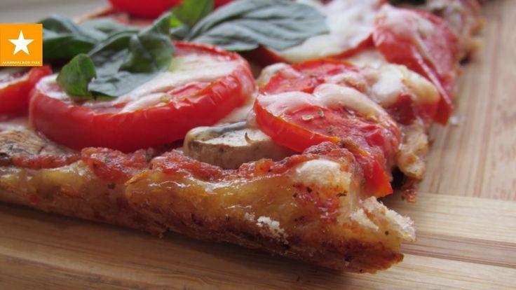 Очень вкусная и быстрая пицца на тесте без дрожжей и яиц. Здоровое питание