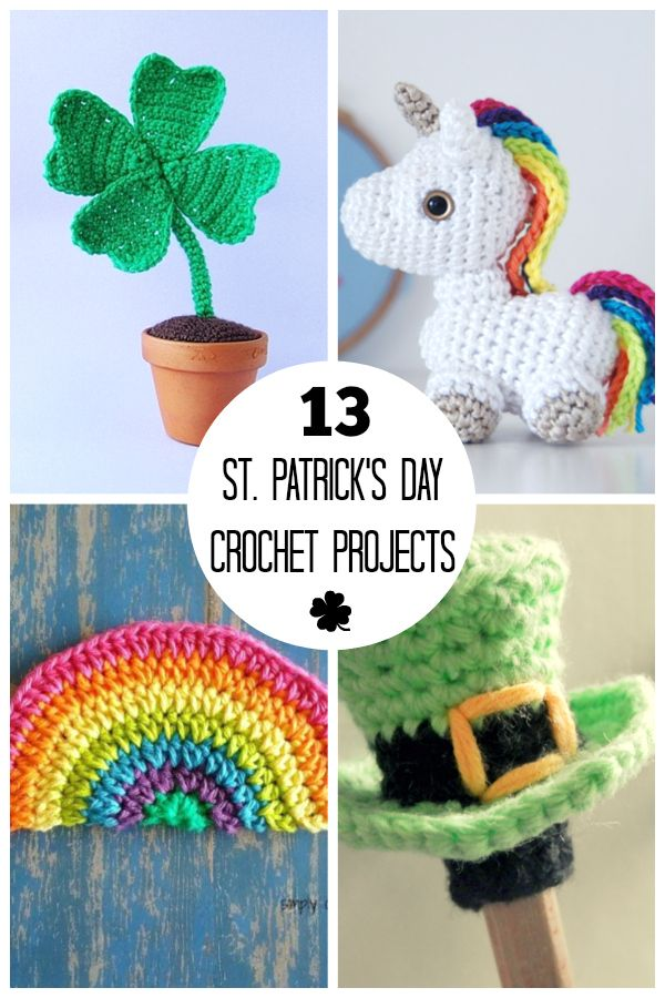 We're getting our house ready for the St. Patrick's holiday, especially with some St. Patrick's Day crochet! I've gathered some super fun rainbow projects, shamrock patterns, and leprechaun crochet ideas you're going to love.