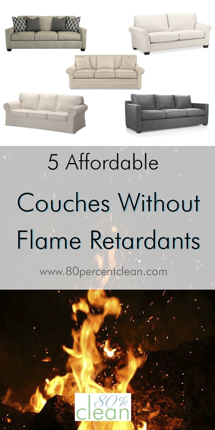 Finally a list of couches without flame retardants that you can actually afford and that are easy to find.