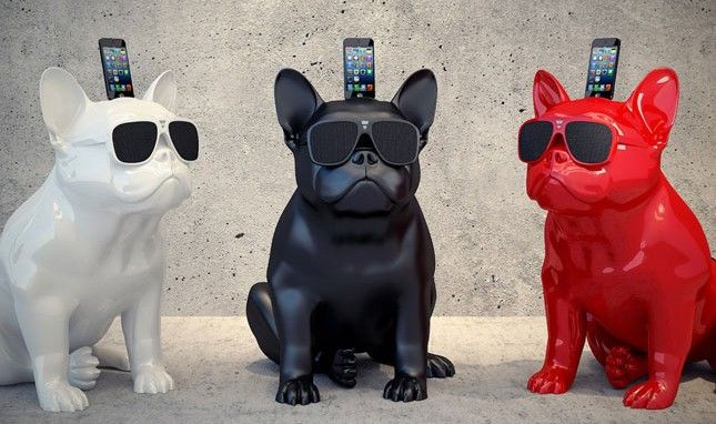 Made Us Look: A Wireless Speaker That Looks Like a French Bulldog
