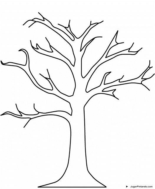 Fichas de arboles para colorear   dibujos   Pinterest   Moldes ...