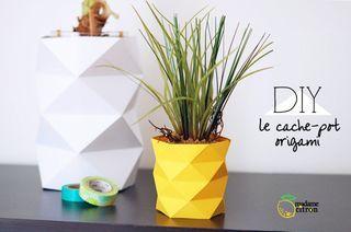 DIY : le cache-pot ananas origami | Madame Citron - Création de cake-topper et faire-part de mariage | Bloglovin'