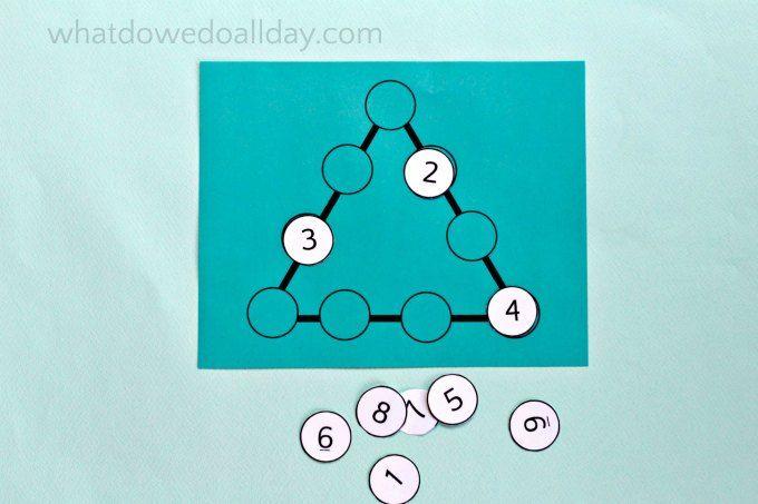 Math magic with perimeter triangle puzzle