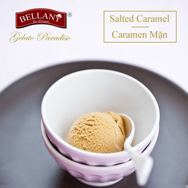 Salted caramel sauce is a very fancy one. With only the first taste needed, you will absolutely fall in love with it It is a blend from rich caramel sauce and a sprinkle of sea salt for a perfect consistency. You can experience with this impressive sauce in Bellany Salted Caramel Ice Cream  =>> Please find our best offer: www.bellany.vn #saltedcaramel #kemcaramenman #kembellany #bellanyicecream
