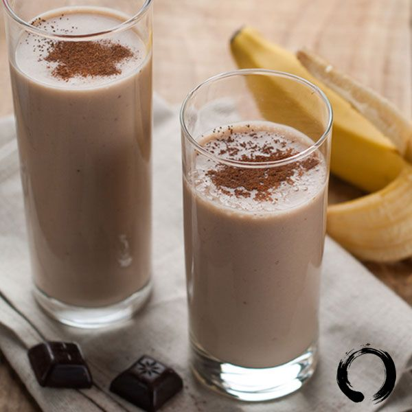Coffee Chocolate Banana Smoothie-Oh My!      This is a great recipe to get you going in the morning. It has everything you need for a good day: protein, potassium, and–most importantly–caffeine!       Ingredients    1 banana   1⁄2 cup milk   1 packet instant coffee (we love Starbucks Via packets!)  2 teaspoons chocolate whey protein powder   6-8 ice cubes    Optional: Sprinkle cinnamon and/or turmeric on top for some extra health boosting benefits!