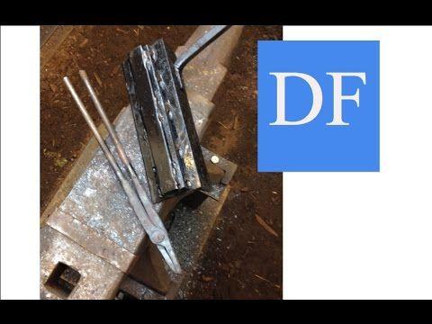 Blacksmithing for Beginners - Small Blacksmith Tongs - YouTube