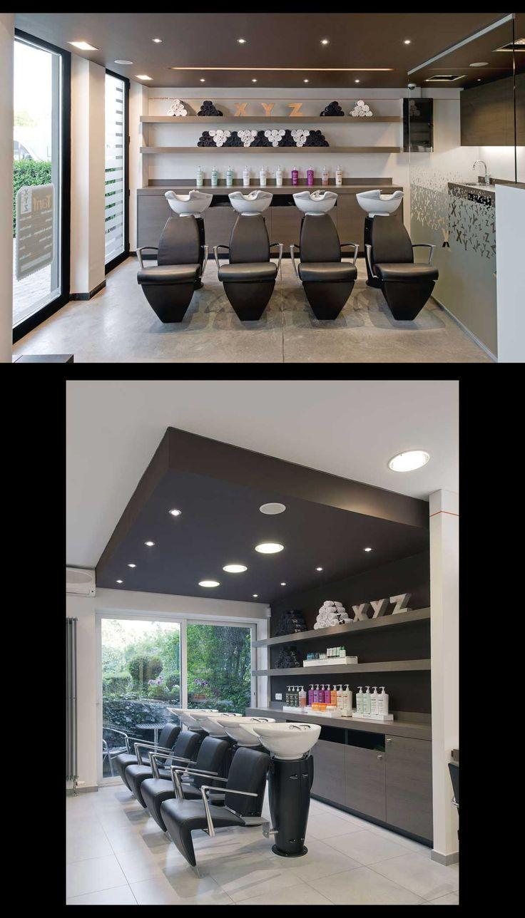 Salon XYZ - Liege (Belgium) - Salon Design - Shampoo Station #SalonTrends