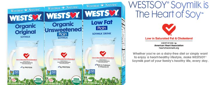 This Soy milk has the lowest sodium amounts out there!  WestSoy Soymilk - I like the organic unsweetened for cereal and recipes.