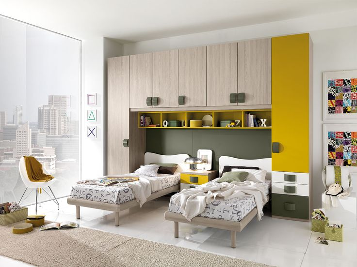 "UNOXTUTTI has many ideas: solutions save space, and a removable bridge with writing desks, beds sliding, loft beds and castle with detachable third network, mobile trasformisti ""accompanying the growth of boys meet their needs. http://www.giessegi.it/it/camerette-ragazzi-bambini?utm_source=pinterest.com&utm_medium=post&utm_content=&utm_campaign=post-camerette"