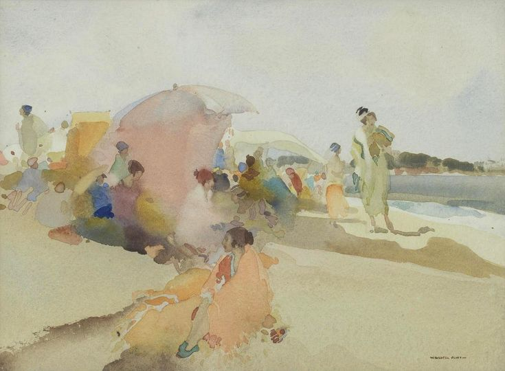 Sir William Russell Flint (1880 — 1969, UK) Celebrities. watercolour. 24 x 33 cm. (9 1/2 x 13 in.)