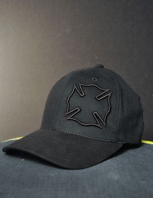 Black Maltese Flexfit Hat- Black Helmet Firefighter Apparel