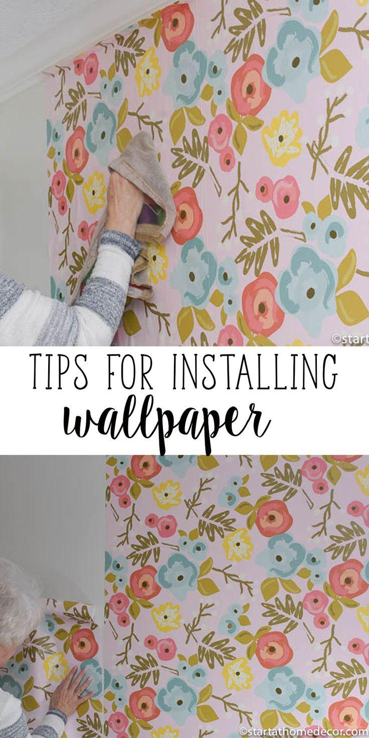 Great tips for installing wallpaper.  Floral Wallpaper