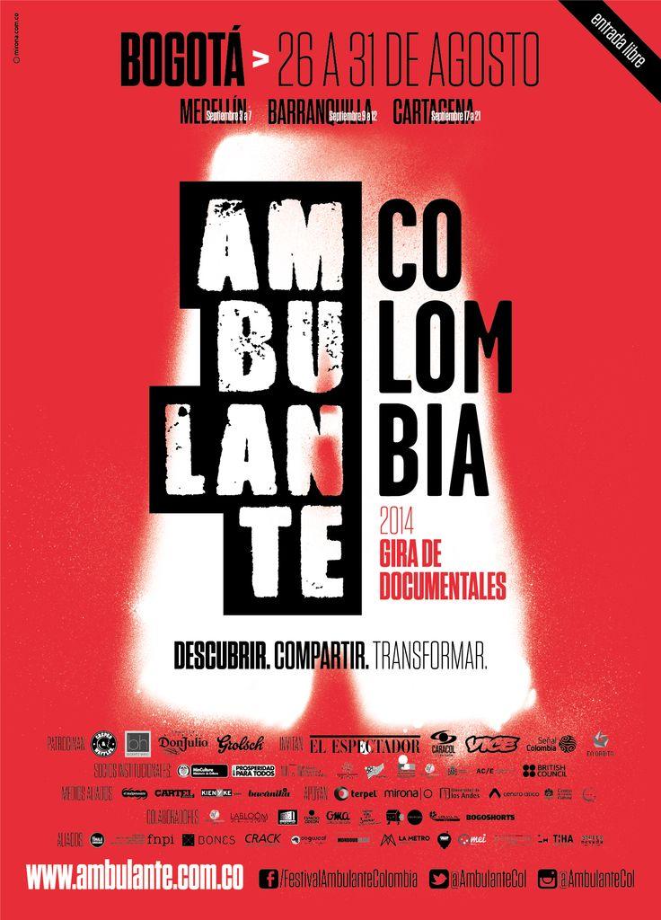 Afiche Bogotá de AmbulanteCol 2014