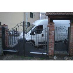 CANCELLO CARRABILE Ferro Battuto . Realizzazioni Personalizzate . 194