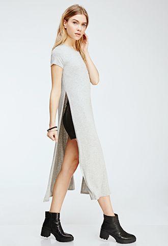 a6b55fac456 High-Slit T-Shirt Dress