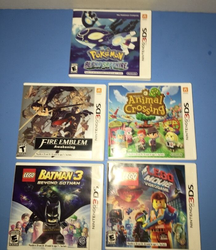 Lot of 5 Empty Nintendo 3 DS Cases with Art and Booklets   eBay
