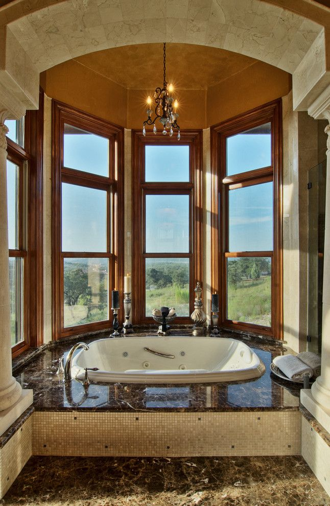 baster bath tub with surround | tub surround tile Bathroom Traditional with alcove archway Bath ...
