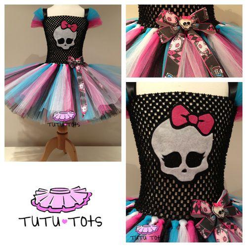 Monster High Inspired Tutu Dress Party Costume Fancy 1 2 3 4 5 6 7 8 yrs | eBay
