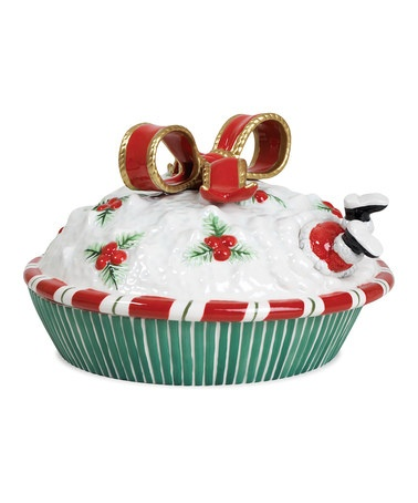 Take a look at this Yuletide Holiday Covered Pie Dish by Fitz and Floyd onu2026 Christmas DishesChristmas ...  sc 1 st  Pinterest & 163 best Covered Pie Plates images on Pinterest | Pie plate Dishes ...