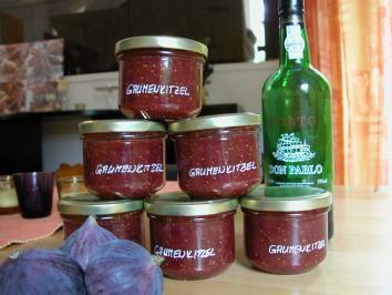 Konfitüre Gaumenkitzel mit Portwein - Rezept mit Bild