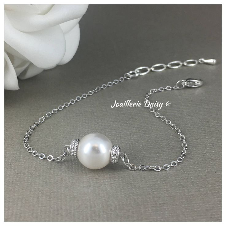 Bracelet Jewelry Bridesmiad Gift Bridesmaid Bracelet Floating Bracelet Single Pearl Bracelet Miad of Honor Gift for Her Mothers Gift Budget by dcjoaillerie on Etsy https://www.etsy.com/ca/listing/552885631/bracelet-jewelry-bridesmiad-gift