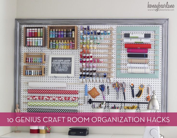 10 clever hacks for your craft room or workspace.