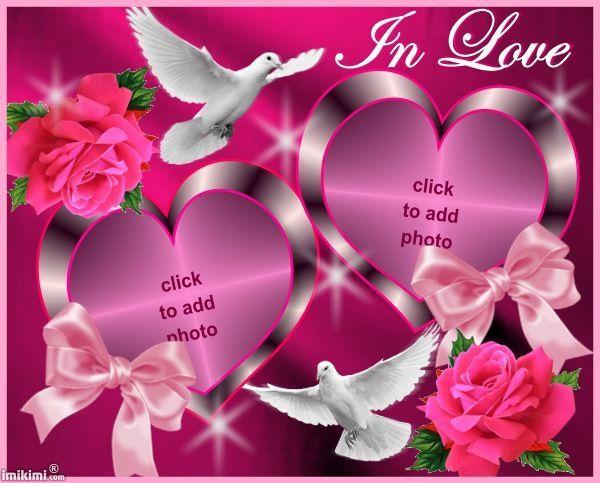 Imikimi Photo Frame Birthday Pixiz Love.In Love Frame From Imikimi Com A Free Photo Montage Site