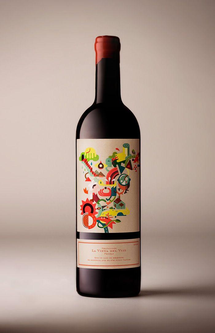 Packaging for Vinya del 8 by Iván Bravo.