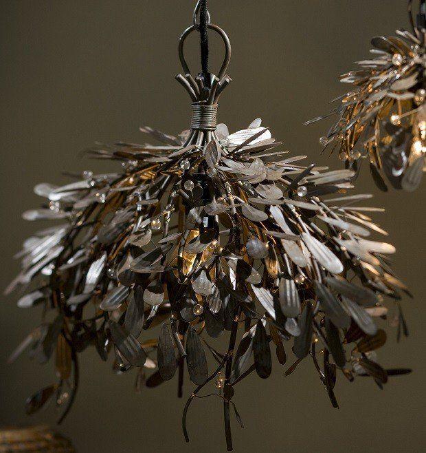 21 unique lighting ideas pinterest metal mistletoe pendant light unique pendant lights metal flower pendant light mozeypictures Images