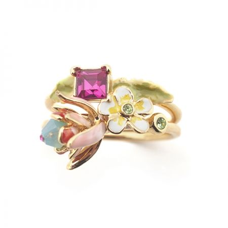 Fuchsia Stacking Rings