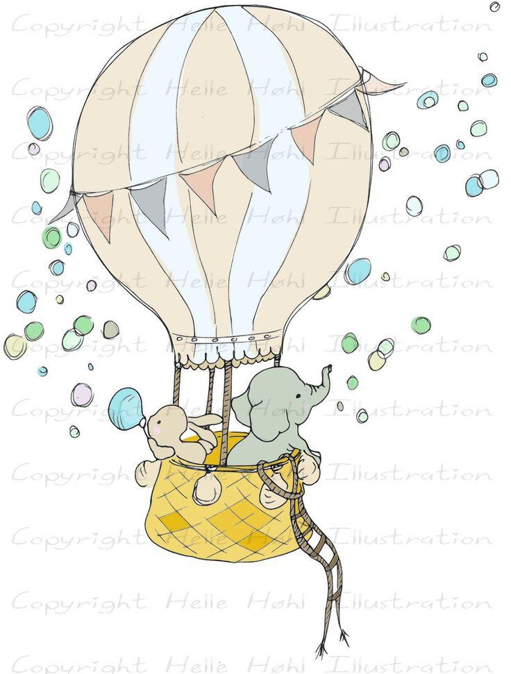 INSTANT DOWNLOAD Child Nursery Art Hot Air Balloon elephant bunny doodle Digital Clip Art paper Craft by HelleHillustration on Etsy https://www.etsy.com/listing/238636513/instant-download-child-nursery-art-hot