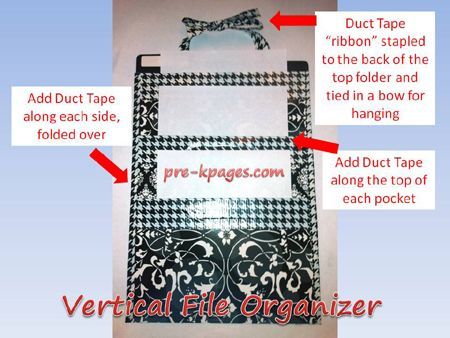 diy vertical file organizer tutorial