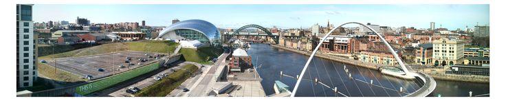 Gateshead and Newcastle panorama, Newcastle upon Tyne